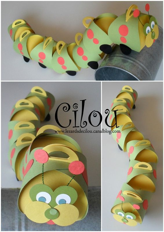 Genius way to use this die from Cécile Ortiz Curvy keepsake box caterpillar - www.paperpassionpapier.ca