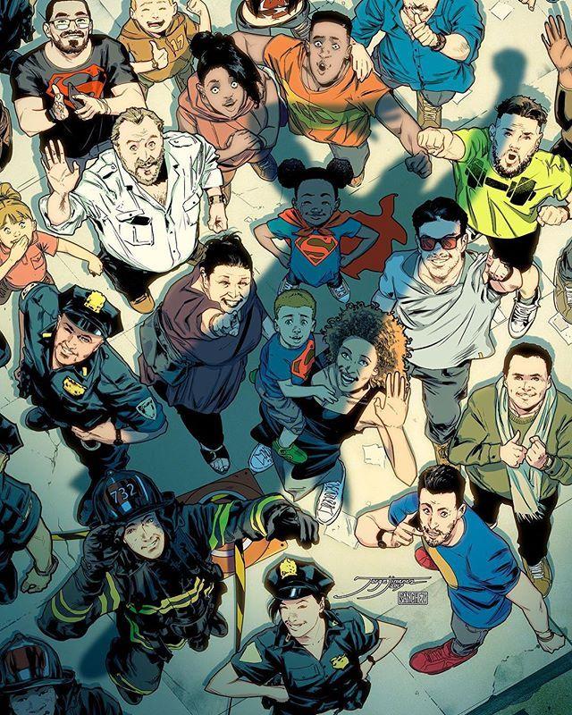 WEBSTA @ jorge_jimenez_comicbookartist - Final version ;) colors by @loquesunalex I did a Superman cover without Superman, but I did common people, with hope, excitement, future, optimism, this is what Superman means to me Hice una portada de Superman, sin Superman, pero si hice gente común, con esperanza, ilusión, futuro y optimismo, que es lo que el concepto Superman significa para mí.  #superman #28 #variantcover #dccomics #dcrebirth