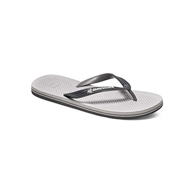 New QUIKSILVER Mens HALEIWA  Cushion  Light Grey / Grey Sandals FREE ShiPPING #Quiksilver #SportSandals