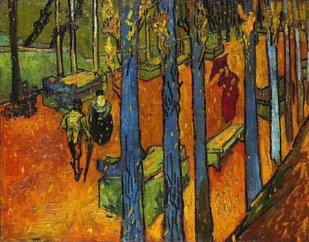 Falling Leaves (Les Alyscamps) / Vincent van Gogh / 1888 / oil on canvas
