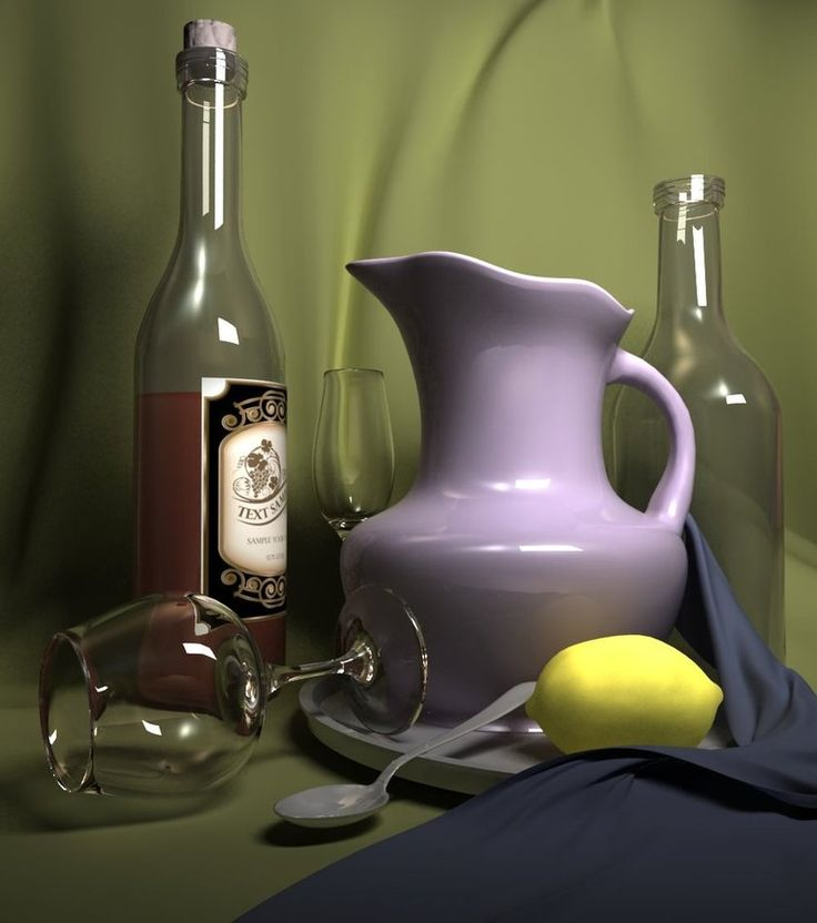 3D still life by Ultrarender