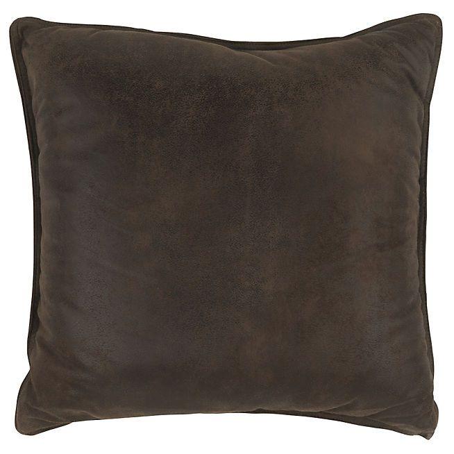 Havane Coussin de sol effet cuir