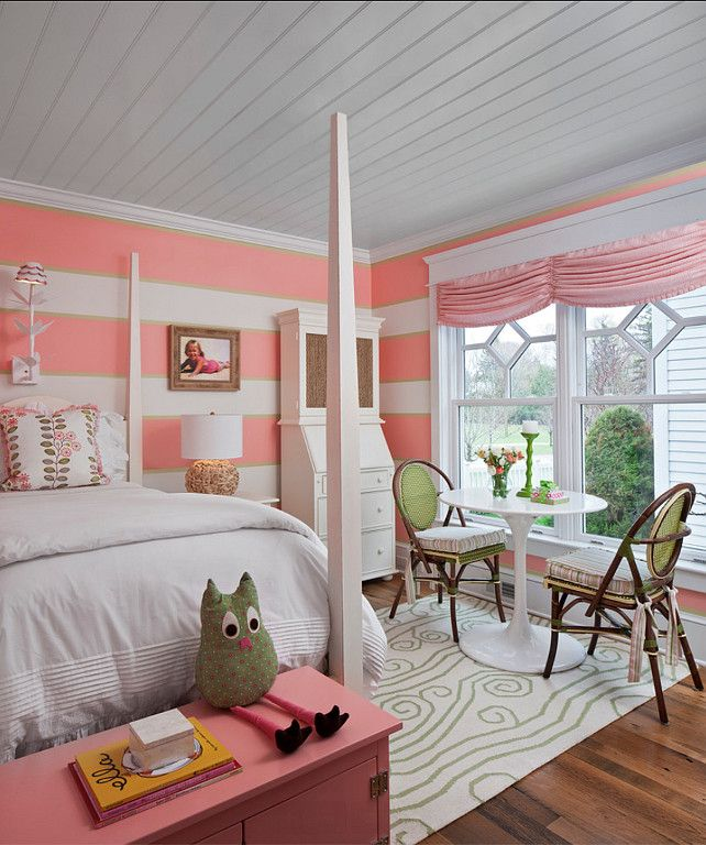 Kids Bedroom Decor. Girls Bedroom design with great decor ideas. #KidsBedroom #KidsBedroomDecor #KidsBedroomDesign Designed by Cottage Company Interiors.