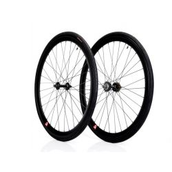 A . Black 40mm Retrospec  Deep V FIXIE SINGLE SPEED Wheelset
