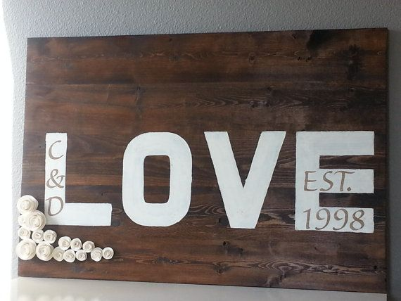 ... Wedding, Personalized Wedding Sign, Anniversary Gift, Personalized