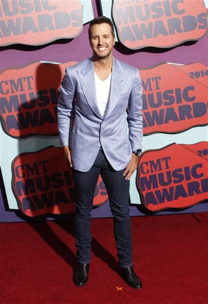 Luke Bryan attends the 2014 CMT Music Awards at the Bridgestone Arena in Nashville, Tenn., on June 4, 2014.