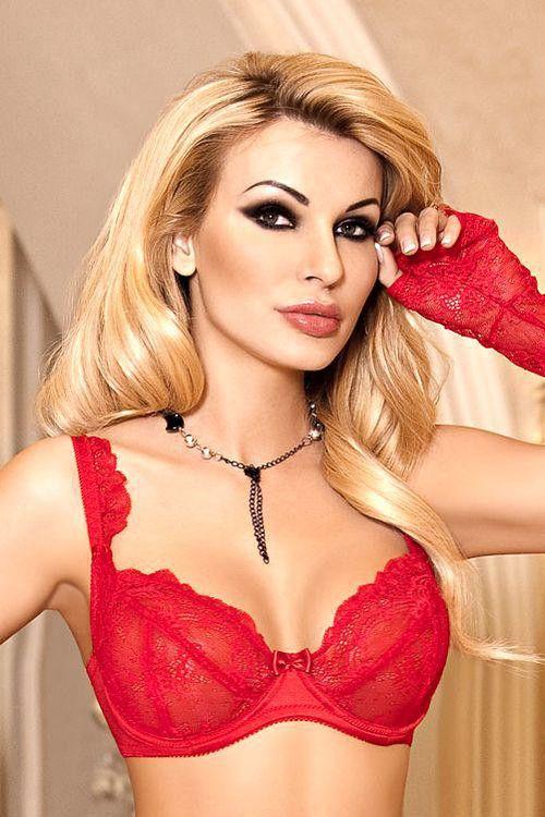 Sexy podprsenka Ambre soft červená.