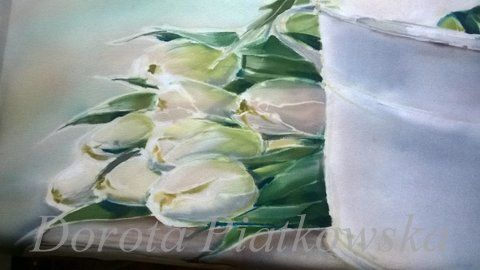 silk painting.tulips
