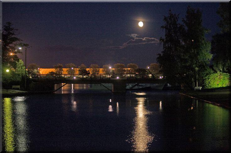 Kotka by night. Aili Alaiso Finland