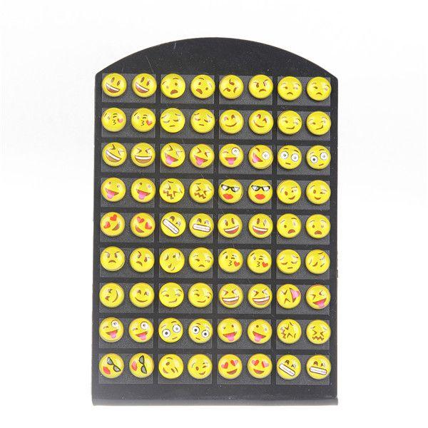Nette 36 paar Runde Gelbes Glückliches Gesicht Emoji Ohrstecker Lustige Smiley Ohrring Für frauen Mädchen Weihnachtsgeschenk