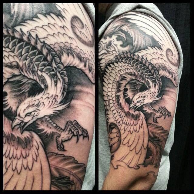 Best 25 phoenix tattoo men ideas on pinterest phoenix for Phoenix tattoo half sleeve