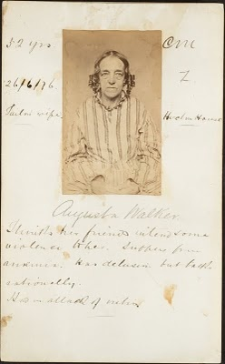 Asylum Patient Augusta Walker, 32 years, 1876