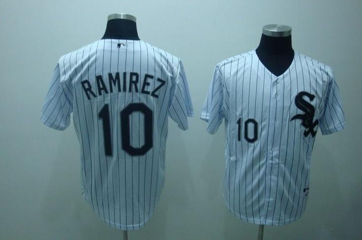 $22.00 MLB Jerseys Chicago White Sox Alexei Ramirez #10 White Pinstripe