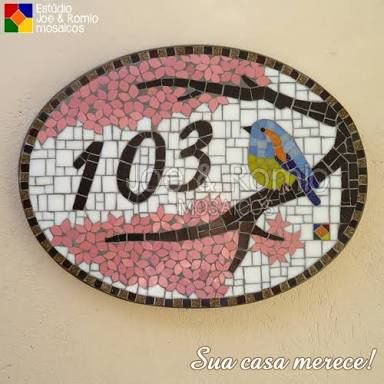 NÚMERO DA CASA em mosaico