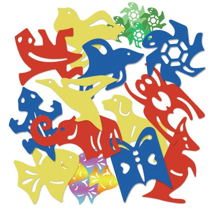 M.C. Escher created tessellations with reptile, swan and dog designs. Your students can create them with kangaroo, turtle, elephant, spider, fish designs and more using these sturdy templates. Set of 12. Create your own animal tessellations on paper or fabric.
