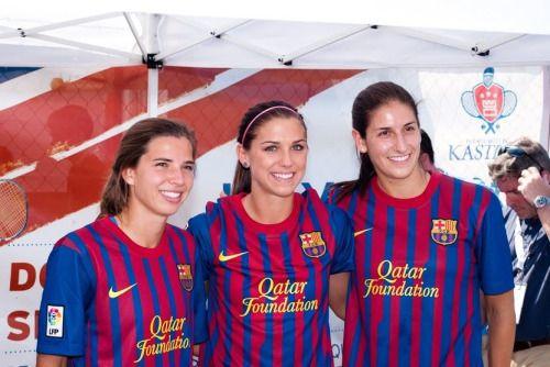 Tobin Heath + Alex Morgan + Yael Averbuch || Mia Hamm celebrity Celebrity Soccer Challenge 2011