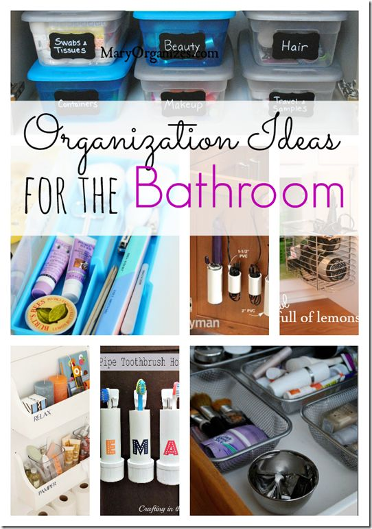 Great ideas to help organize your bathroom!