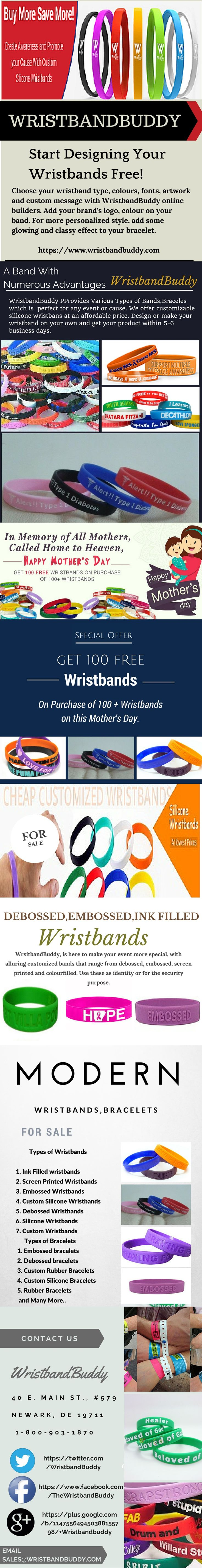 From #WristbandBuddy you will get the best quality #Custom #Silicone #Wristbands at cheap prices. Choose text, #Font and color to match your #Brand. You will be provided with prompt delivery.