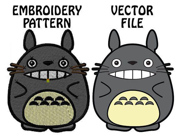 File digitali fai da te macchina ricamo Totoro Con lacquisto di questo profilo si otterrà tre diverse dimensioni ricamo file e un file vettoriale.  Ricamo dimensione 2, 2,5 e 3 pollici (in altezza) Tipi di file inclusi sono: DST, EMB, HUS, PES (Vedi le immagini di anteprima per dimensioni esatte e conteggi del punto) Il più piccolo totoro è circa 8.000 + punti e il più grande è di circa 14.000 + punti  Vector Tipi di file inclusi sono: PDF ed EPS   Nota: Si tratta di un DOWNLOAD digitale e…