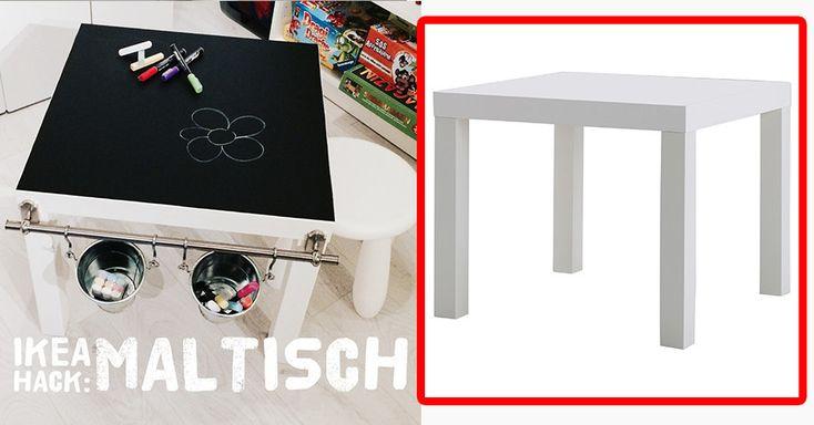 Und auch der legendäre Ikea-Beistelltisch LACK wird mit etwas Fleiß und Tafelfolie der Lieblings-Spielort deiner Kids.