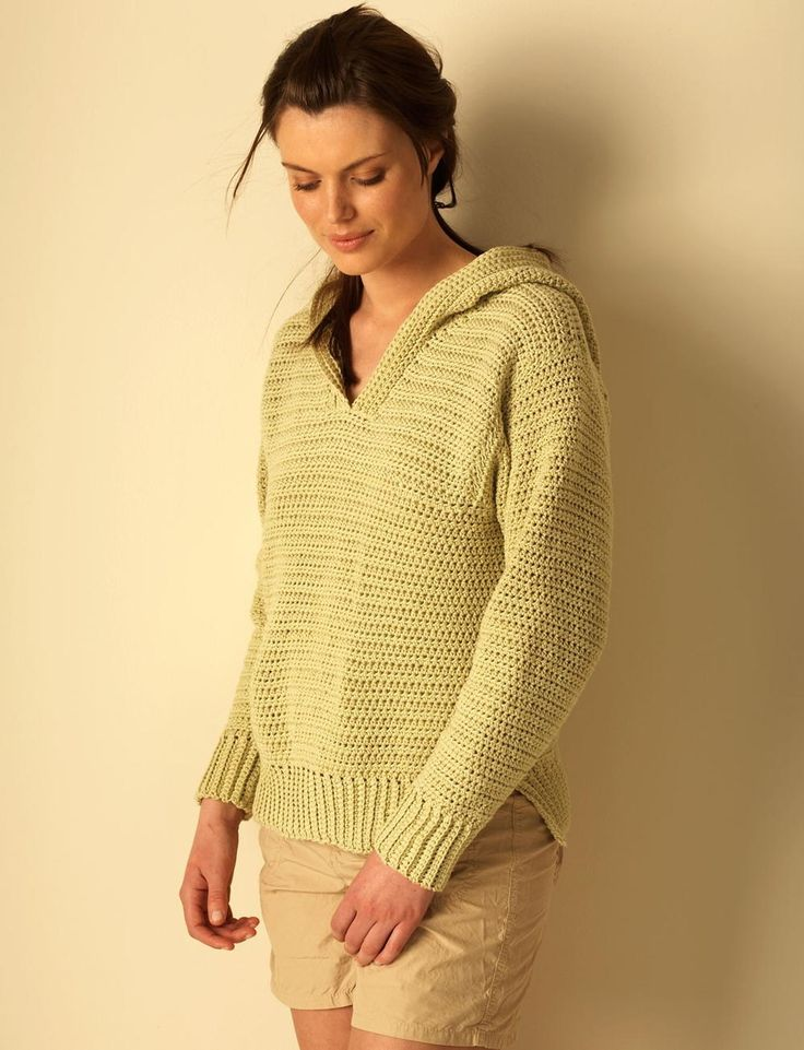 A crochet hoodie that's perfect for those summer days that are accompanied by cool nights. For all skill levels, this free sweater pattern is for women of all ages and sizes.
