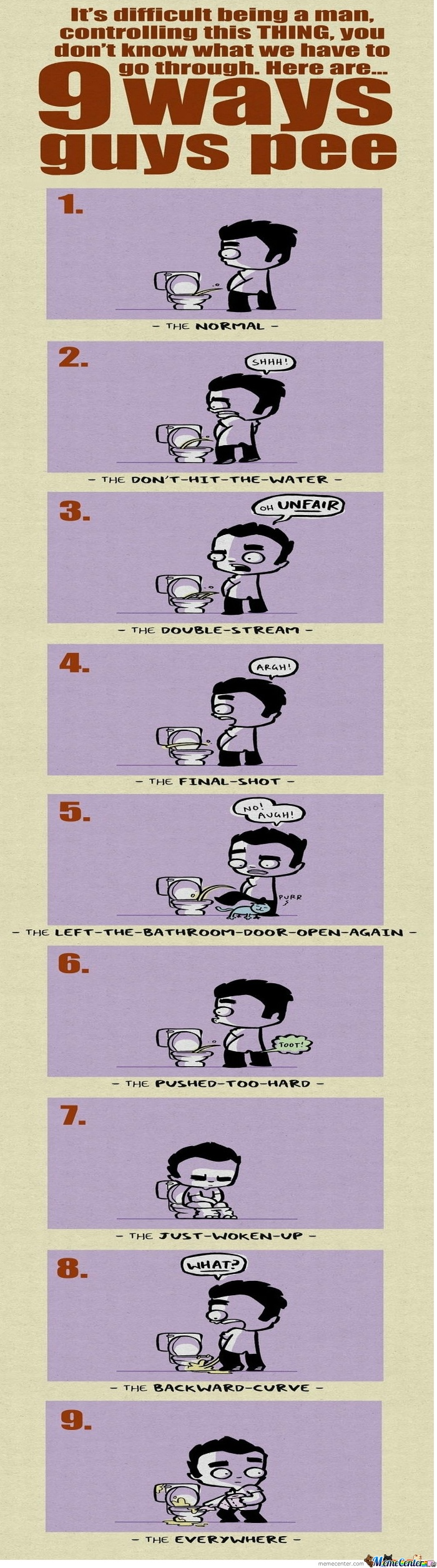 9 Ways Men Pee - LOL