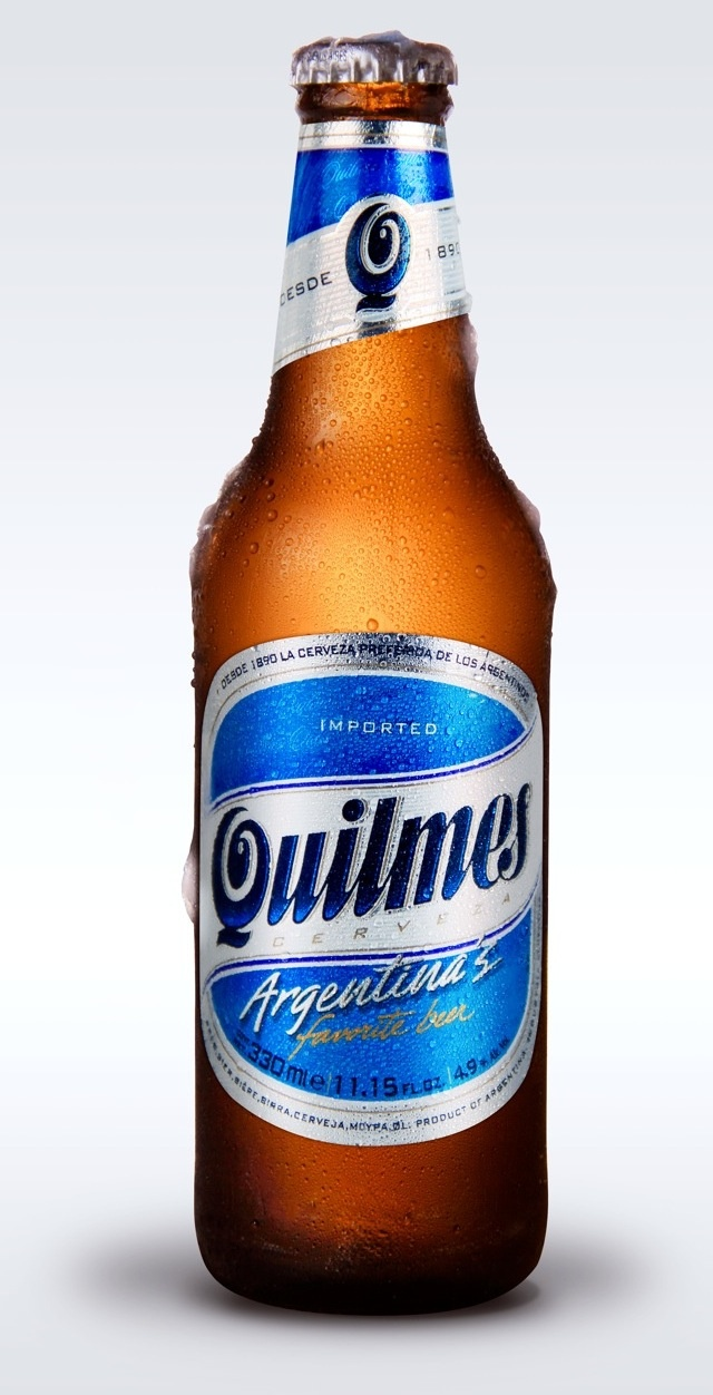 Quilmes - you'll find it everywhere in Argentina! Brewed in the town of Quilmes (funnily enough...)