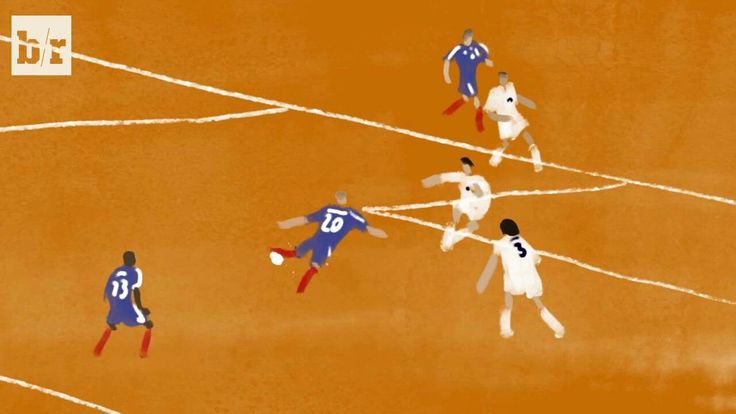 France 2 Italy 1 in 2000 in Rotterdam. Artwork of David Trezeguet scoring the winner in the Final of Euro 2000.