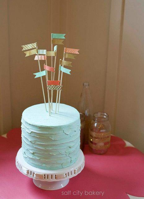 simple wedding cake:: Salt City Bakery www.saltcitybakery.etsy.com