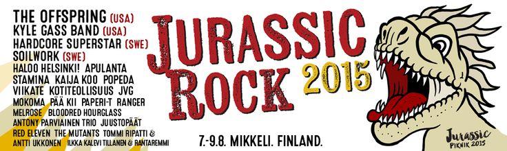 Mikkelissä 7.-9.8. järjestettävä Jurassic Rock julkistaa lisää tulevan kesän kiinnityksiä aiemmin julkaistun The Offspringin lisäksi nähdään The Kyle Gass Band(USA), Hardcore Superstar (SWE), Soilwork (SWE) ja Jari Sillanpää.