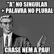 """""""A""""que antecede plural não é craseado     Por Thaís Nicoleti     Mais uma vez a crase. Vale lembrar que a crase é a fusão da preposição..."""