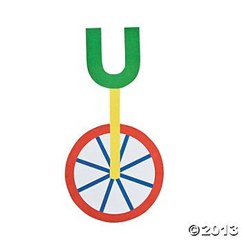 """""""U Is For Unicycle"""" Letter U Craft Kit"""