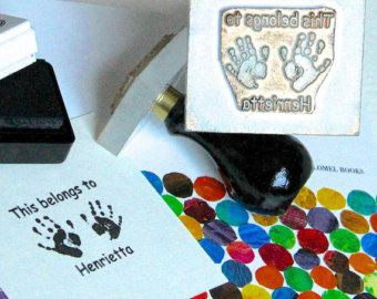 Babys footprint transformed into a real life sized stamp to personalise cards, gifts and keep as a reminder of exactly how tiny those toes once were. Recreate the detail of babys unique footprint. Use the stamp to create a unique signature and a personalised design for thank you, Christmas and birthday cards, invitations and homemade gifts or even decorating the nursery. Much more fun and unique to a babys room than any other theme!  PLEASE ENTER THE FOLLOWING IN THE NOTES TO SELLER: Simply…