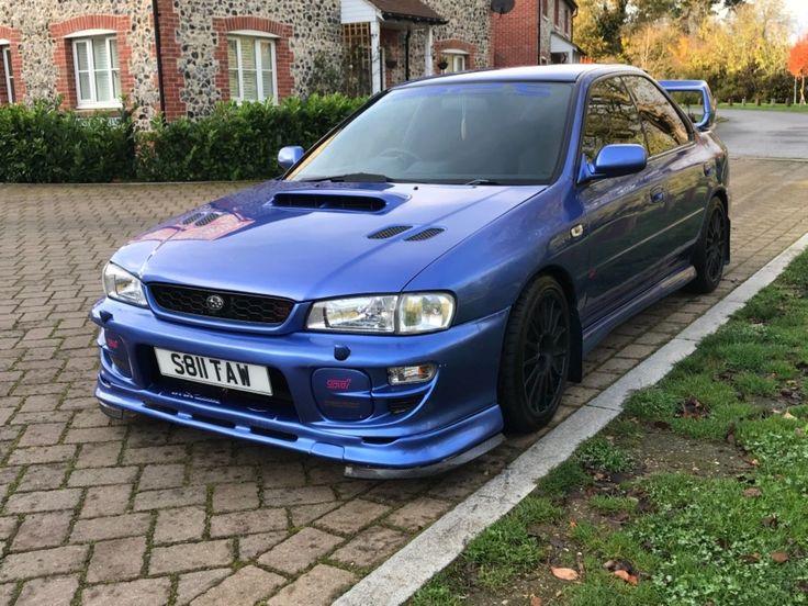 subaru impreza turbo 2000, 250bhp, rare blue, sti extra's,