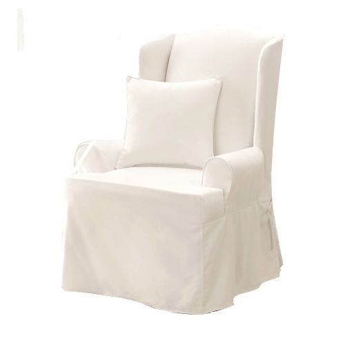 Sure Fit Stretch Braid Wing Chair Cover Covers Design