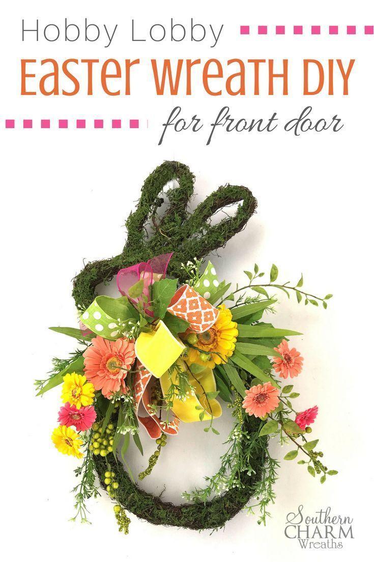 How To Make A Bunny Wreath Door Hanger Easter Wreath Diy Easter Wreaths Easter Grapevine Wreath