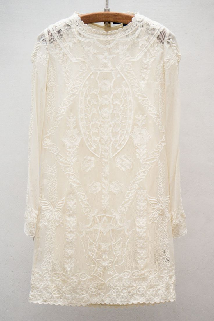 "What a cool ""untraditional"" wedding dress.  It reminds me of what I wore when I got married in 1970.  Very short, very ""hippieish,"" and very Boho! - Isabel Marant Lace Dress - So Dreamy ...... Love The Stars!"