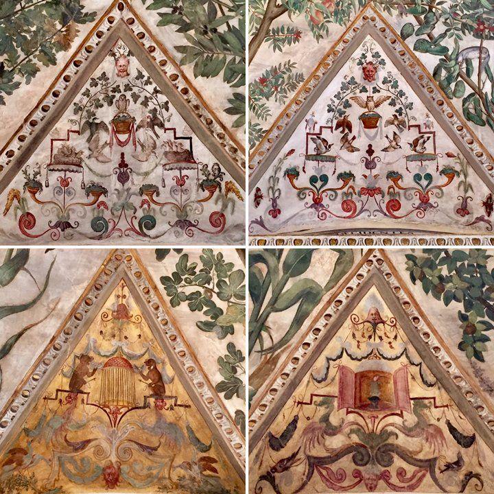 Dettagli della Sala a Fogliami in Palazzo Grimani, decorata da Camillo Mantovano (1560 ca.)