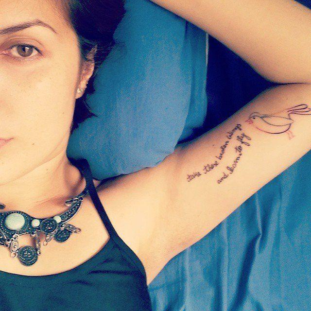 """Pin for Later: 41 Tatouages Qui Vont Changer Votre Vie """"Utilise ces ailes brisées et apprend à voler."""""""