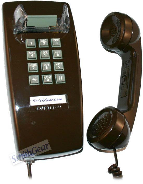 kitchen wall phones outdoor pergola cortelco 2554 brown phone pinterest