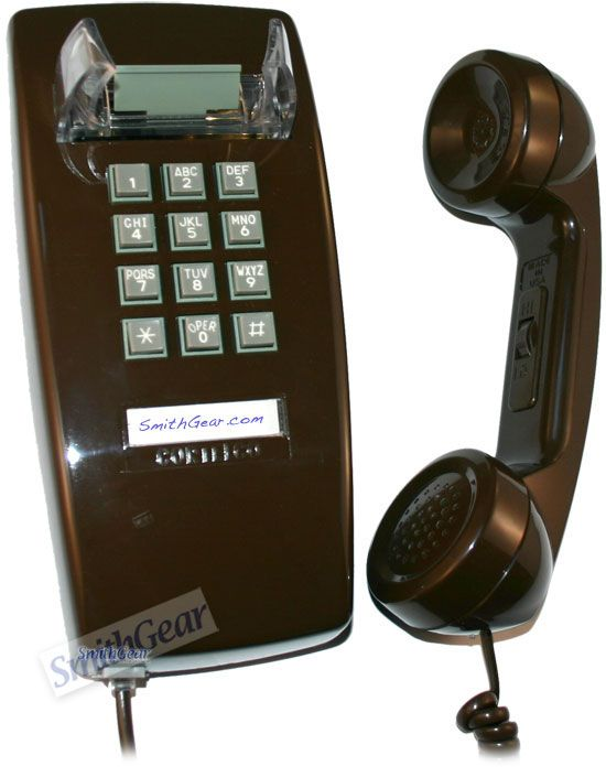 Kitchen Wall Phones Sink Rug Cortelco 2554 Brown Phone Pinterest