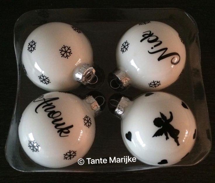 Kerstbal met naam en geboortedatum