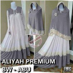 Baju muslim aliyah bergo bhn spandex jersey
