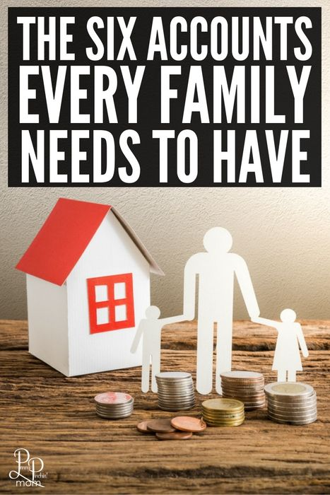 From emergency fund savings to regular checking accounts - learn the six accounts every family needs to have!