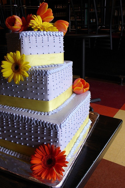 Beautiful square wedding cake!