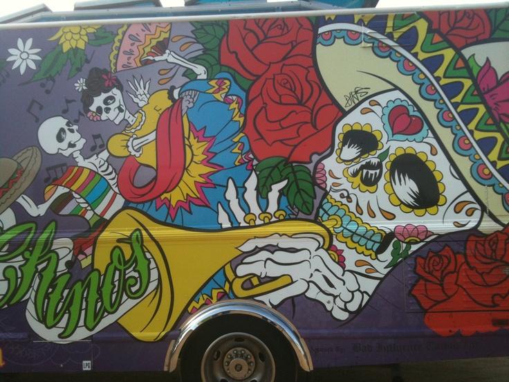Taco Truck With Calaveras