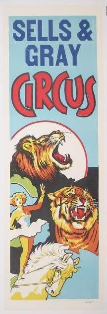 Sells & Gray Circus - Lion & Tiger