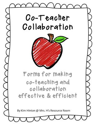Mrs. H.'s Resource Room: Communication-Teacher Collaboration
