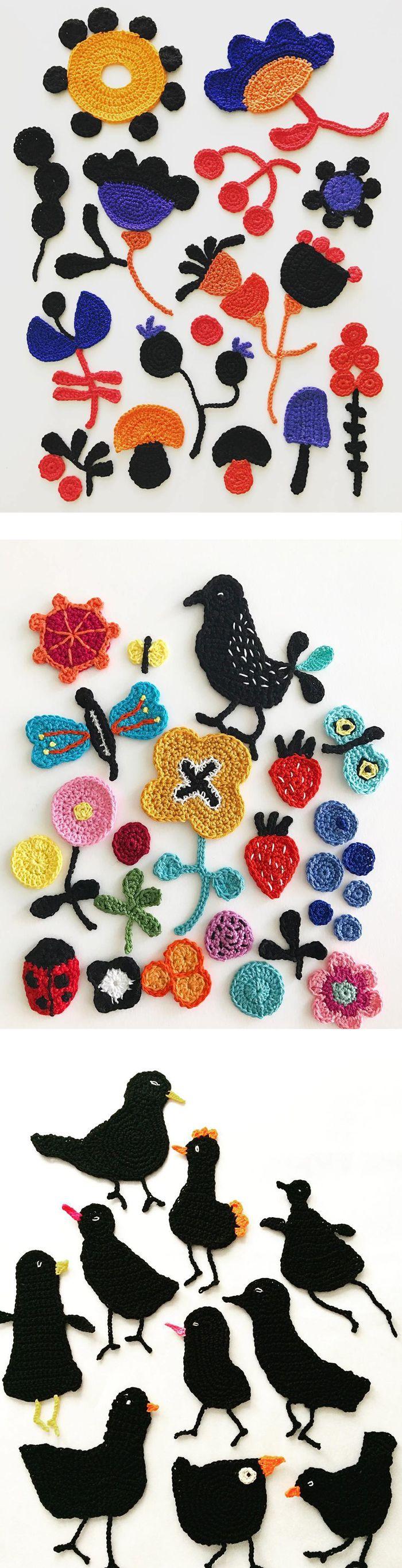 Crochet art by Tuija Heikkinen // crochet // fiber art // embroidery illustration