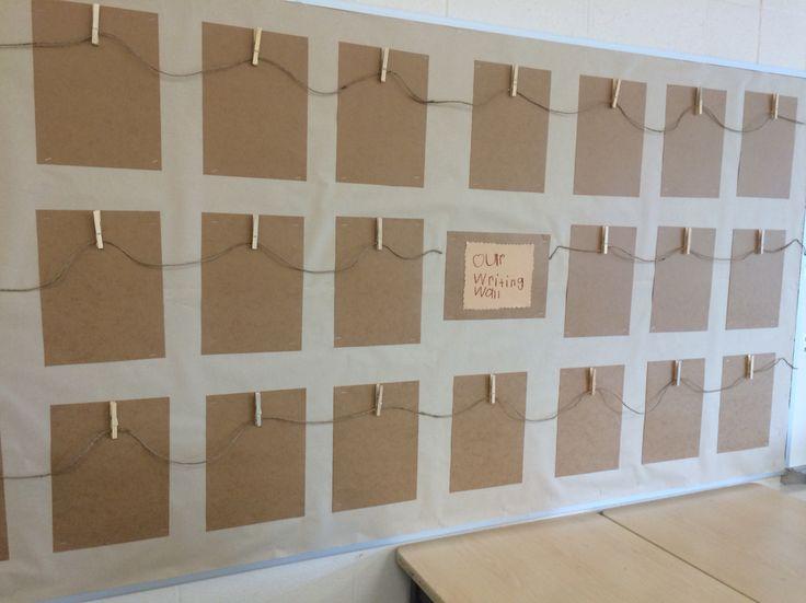 Writing wall. FDK. Reggio inspired